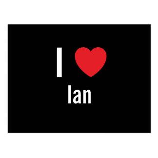 J'aime Ian Carte Postale