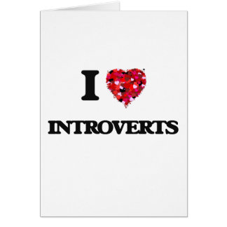 J'aime Introverts Carte De Vœux