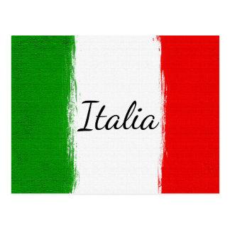 J'aime Italy.Flag de l'Italie Carte Postale