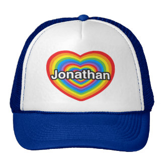 J'aime Jonathan. Je t'aime Jonathan. Coeur Casquette Trucker