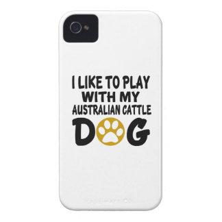 J'aime jouer avec mon chien australien de bétail coques iPhone 4