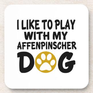 J'aime jouer avec mon chien d'Affenpinscher Sous-bocks