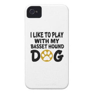 J'aime jouer avec mon chien de Basset Hound Coques iPhone 4