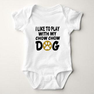 J'aime jouer avec mon chien de bouffe de bouffe body
