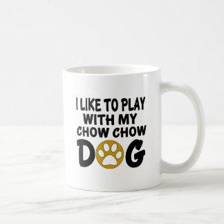J'aime jouer avec mon chien de bouffe de bouffe mug