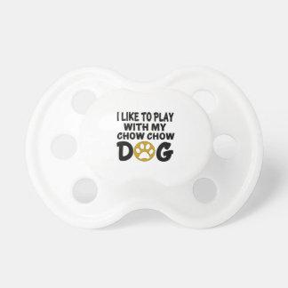 J'aime jouer avec mon chien de bouffe de bouffe sucette pour bébé