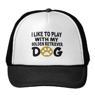 J'aime jouer avec mon chien de golden retriever casquettes