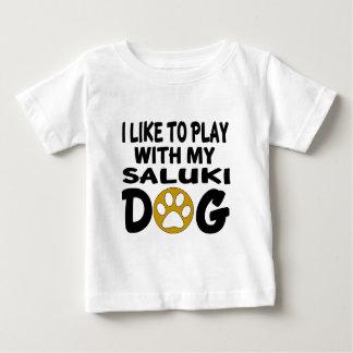 J'aime jouer avec mon chien de Saluki T-shirt Pour Bébé