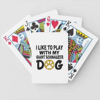 J'aime jouer avec mon chien de Schnauzer géant Jeu De Cartes