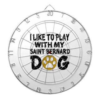 J'aime jouer avec mon chien de St Bernard Jeu De Fléchettes