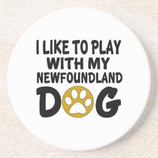 J'aime jouer avec mon chien de Terre-Neuve Dessous De Verres
