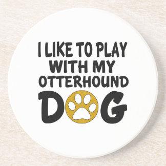 J'aime jouer avec mon chien d'Otterhound Dessous De Verres