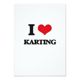 J'aime Karting Faire-part Personnalisé