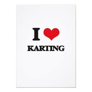 J'aime Karting Carton D'invitation