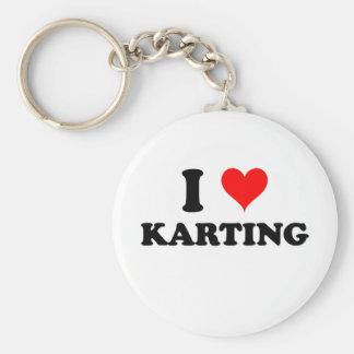 J'aime Karting Porte-clé Rond
