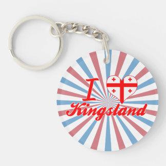 J'aime Kingsland, la Géorgie Porte-clé Rond En Acrylique Une Face