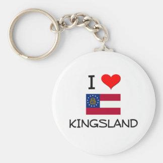 J'aime KINGSLAND la Géorgie Porte-clé Rond