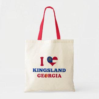 J'aime Kingsland, la Géorgie Sacs En Toile