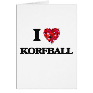 J'aime Korfball Carte De Vœux