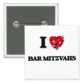 J'aime la barre Mitzvahs Badge Carré 5 Cm