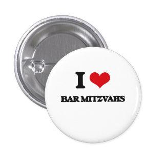 J'aime la barre Mitzvahs Badges Avec Agrafe