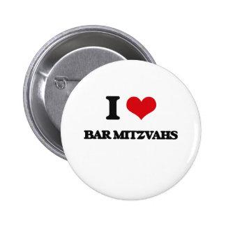 J'aime la barre Mitzvahs Badge
