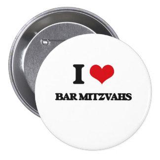 J'aime la barre Mitzvahs Badges