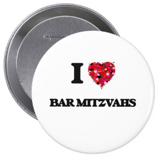 J'aime la barre Mitzvahs Badge Rond 10 Cm