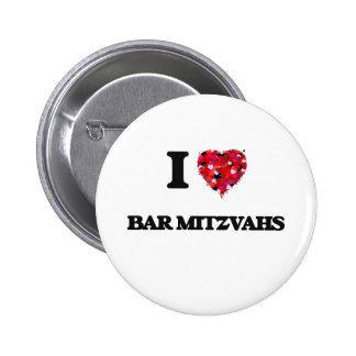 J'aime la barre Mitzvahs Badge Rond 5 Cm