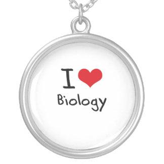 J'aime la biologie pendentifs personnalisés