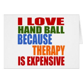 J'aime la boule de main puisque la thérapie est carte de vœux