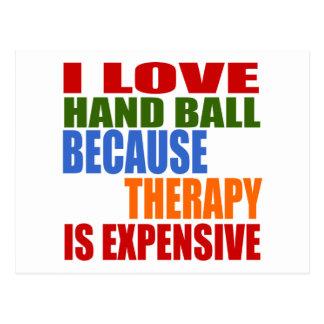 J'aime la boule de main puisque la thérapie est carte postale