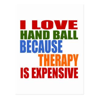 J'aime la boule de main puisque la thérapie est cartes postales