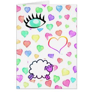 J'aime la brebis ! - Carte de jour de Valentines