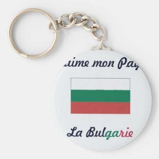 J'aime la Bulgarie.jpg Porte-clé Rond