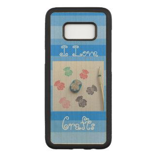 J'aime la caisse de la galaxie s8 de Samsung de Coque En Bois Samsung Galaxy S8