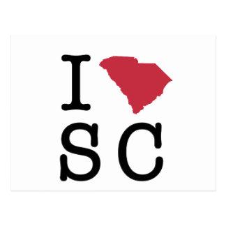 J'aime la Caroline du Sud Carte Postale