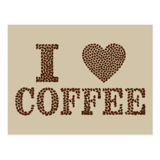 J'aime la carte postale de café