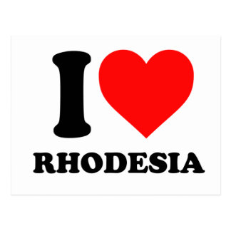 J'aime la carte postale de la Rhodésie