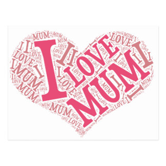 J'aime la carte postale de maman horizontale