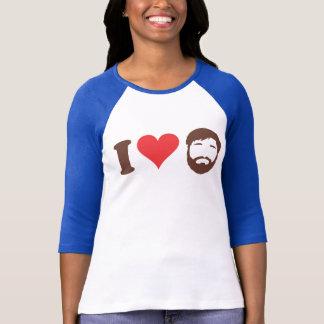J'aime la chemise de barbes t-shirt