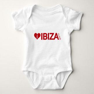 j'aime la chemise de bébé d'île d'Ibiza Body