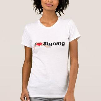 J'aime la chemise de langue des signes t-shirt