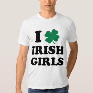 J'aime la chemise irlandaise de filles t-shirts