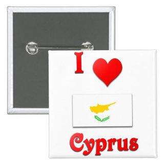 J'aime la Chypre Badge