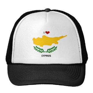 J'aime la Chypre Casquettes De Camionneur