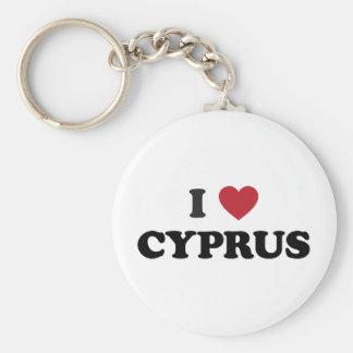 J'aime la Chypre Porte-clé Rond