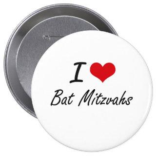 J'aime la conception artistique de bat mitzvah badge rond 10 cm