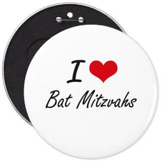 J'aime la conception artistique de bat mitzvah badge rond 15,2 cm