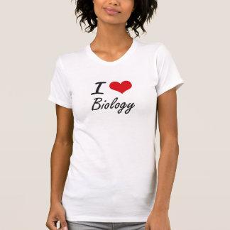 J'aime la conception artistique de biologie t-shirt